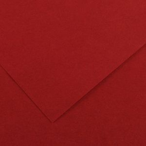 Canson 200040369 - Feuille Iris Vivaldi 50x65 240g/m², coloris grenat 16