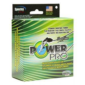 Power pro Spectra Line 135 Fil Tressé Vert Taille 0,150 mm