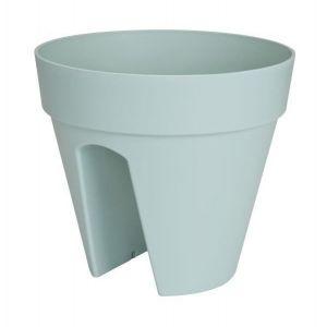 Loft URBAN Pot cavalier - Ø30 cm - Menthe - Réservoir d'eau - Balustrades jusqu'à 6 cm de large - 2 fixateurs - Résistant au gel- Plastique recyclable
