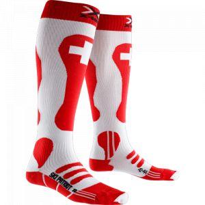 X-Socks Chaussettes de Ski Patriot Suisse Rouge - Femme, Homme