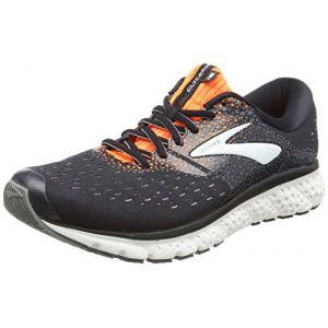 Brooks Glycerin 16, Chaussures de Running Homme, Multicolore (Black/Orange/Grey 069), 42.5 EU
