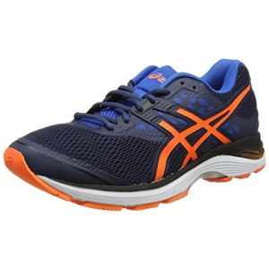 Asics Gel-Pulse 9, Chaussures de Running Homme, Bleu (Dark Blue/Rose Shocking Orange/Bleu Victoria Blue 4930), 42 EU