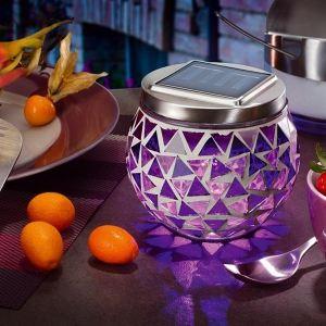 Esotec Lampe solaire décorative mosaïque à led