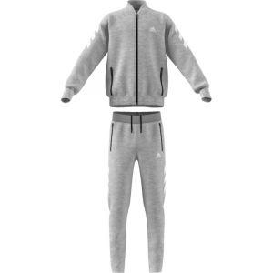Adidas YB XFG TS Survêtement Garçon, Medium Grey Heather/White, FR : S (Taille Fabricant : 7-8Y)