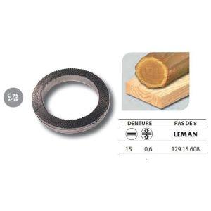 Leman 129.15.608 - 1 Rouleau de 50 mètres Lame scie à ruban en acier C75 15x0,6 pas de 8