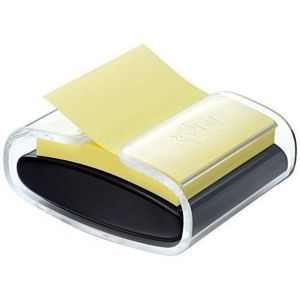 Post-It Dévidoir pro noir + bloc Z notes Super Sticky 76x76mm jaune - 90 feuilles