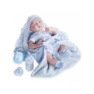 Berenguer Poupon newborn nouveau né avec accessoires bleus 39 cm