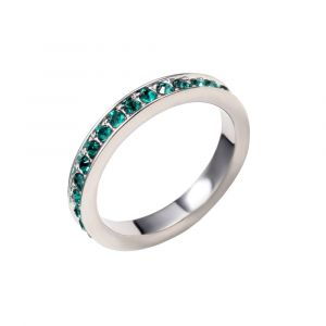 Blue Pearls Bague Alliance Cristal de Swarovski Elements Vert