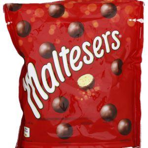 Maltesers Bonbon de chocolat au lait, fourrage croquant au lait malté - Le sachet de 192,5g
