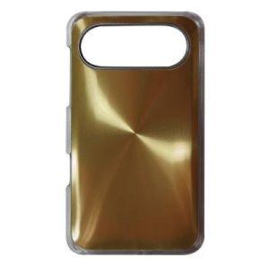 Coque metal strie dore HTC desire HD 7