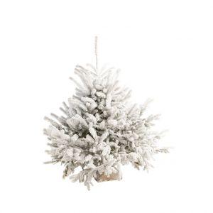 Sapin naturel Diamant Robin® blanc effet enneigé 110/125 cm