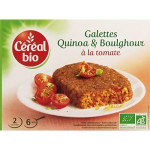 Céréal bio Galettes de céréales au quinoa et boulghour à la tomate, certifié AB - Les 2 galettes, 200g