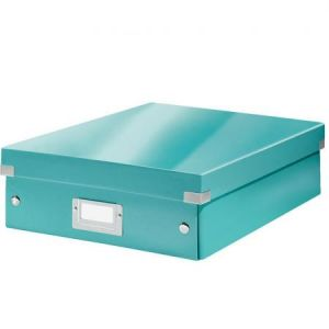 Leitz 6058-00-51 - Boîte de rangement Click & Store, moyen format avec compartiments, en PP, coloris menthe glacée