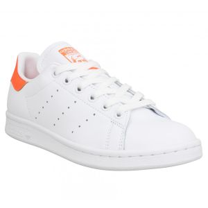 Adidas Stan Smith cuir Femme-40 2/3-Blanc Orange