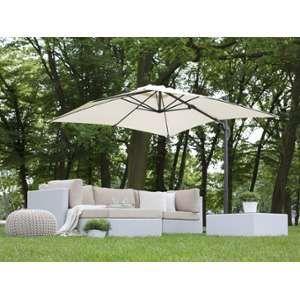 Beliani Parasol de jardin 2,5 m beige Monza