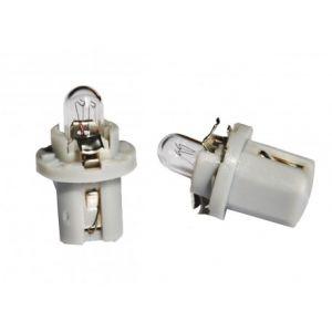 2 ampoules halogène B8,5d 1.2w 24V