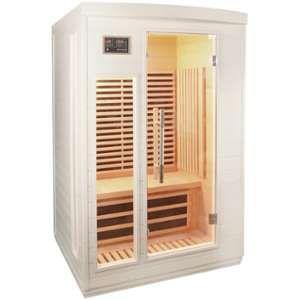 Sauna infrarouge blanc panneaux carbone 2050W 2 places - SNÖ