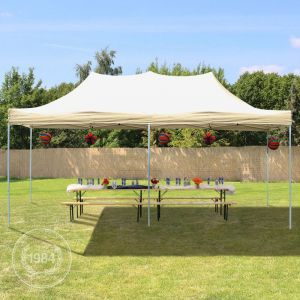 Intent24 Tente de Réception Beige 3 x 6 m - Barnum Pliant