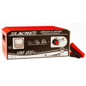 Lacme VAR 200-2 - Chargeur professionnel 10A avec variateur pour batteries 6V, 12V et 24V