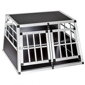 TecTake Caisse de transport double mobile aluminium XXL pour chien