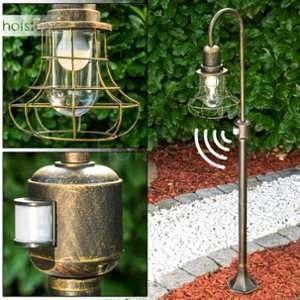 Hofstein Lampadaire extérieur Borkan avec détecteur de mouvement - Luminaire extérieur jardin au design original apportant un éclairage optimal