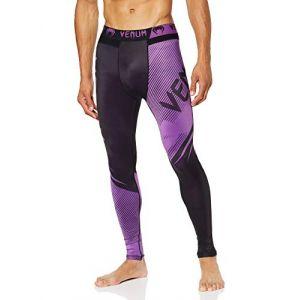 Venum NoGi 2.0 Pantalon de Compression Homme, Noir/Violet, FR : 2XL (Taille Fabricant : XXL)