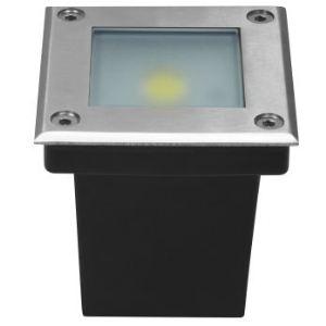 Lumihome DEC/SOL5BC - Spot encastré carré 1 led en inox - blanc chaud