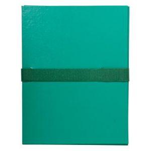 Exacompta 2643E - Chemise à dos extensible balacron, à sangle velcro, coloris vert