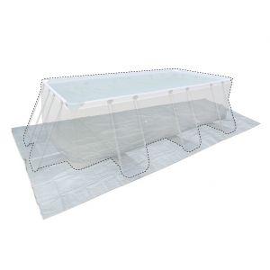 Alice's Garden Tapis de sol pour piscine rectangulaire hors sol 400 x 200 cm