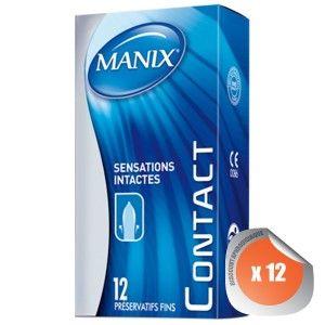 Manix Préservatifs Contact - 12 unités