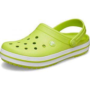 Crocs Crocband, lime punch/white EU 45-46 Sandales Loisir