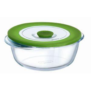Pyrex 4936410 - Plat rond 4 en 1 en verre (0,35 L)