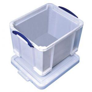 Really useful box Bac de rangement plastique +, couvercle 35L b, lanc résistant