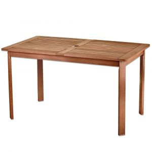 Lynco Table de jardin rectangulaire shorea - Kate - Naturel