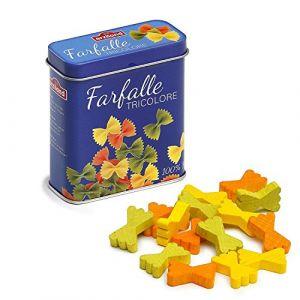 Erzi 7.1 x 3.1 x 8.1 cm en Bois épicerie à pâtes Farfalle dans Une boîte métallique Playset