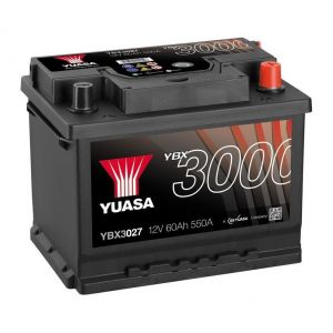 Yuasa SMF Batterie Auto 12V 60Ah 550A YBX3027 12V 60Ah 550A SMF Battery 243 x 175 x 190 mm + D
