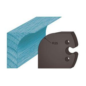 Diamwood Platinum Jeu de 2 contre-fers profilés Ht. 48 x 5,3 mm congé A218 pour porte-outils de toupie