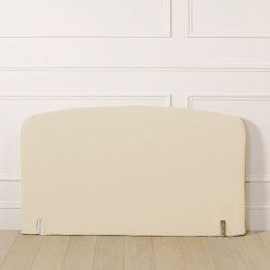 Housse pour tête de lit polycoton, forme galbée Blanc Écru Taille 160x85 cm;90x85 cm;140x85 cm