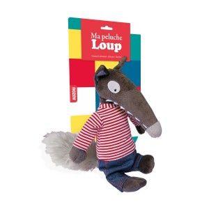 Editions Auzou Ma peluche Loup habillée : Marinière