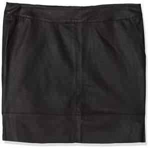 Only NOS Onlbase Faux Leather Skirt OTW Noos Jupe, Noir (Black), 36 (Taille Fabricant: 34) Femme