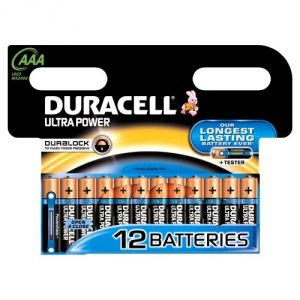 Duracell 12 piles alcalines AAA LR03 Ultra Power
