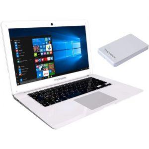"Thomson PC Portable 14,1"" - RAM 2Go -Intel BayTrail Z3735F Quad Core - Intel HD Graphics -Stockage 32Go + Disque Dur externe 120Go"