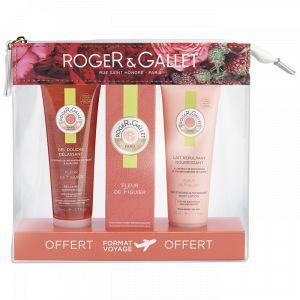 Roger & Gallet Trousse Fleur de Figuier - Gel douche, eau parfumée bienfaisante et lait nourrissant