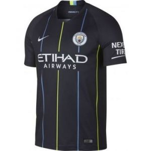 Nike Maillot de football 2018/19 Manchester City FC Stadium Away pour Homme - Bleu Taille XL
