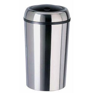 Rossignol (collecte déchets & hygiène) Poubelle couvercle basculant Swingy en inox 50 L