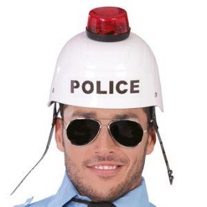 Casque policier sonore et lumineux