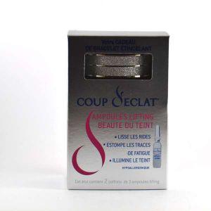 Coup d'éclat Ampoules lifting visage - Lot de 2 boîtes de 3 + Collier offert