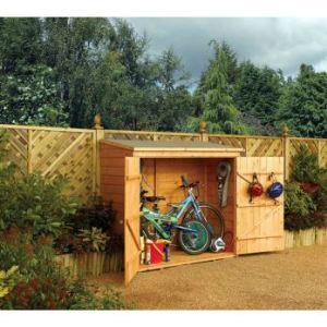 Rowlinson WS1881H - Abri bois pour vélos 1,82 x 0,82 x 1,64 m