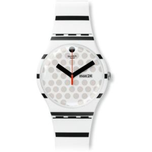 Swatch Zebratian - Montre mixte avec bracelet en silicone