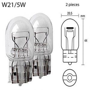 Peraline Ampoule Bifilaire 12 Volt 21/5W Sans Culot T20 W3X16Q Blanc W21/5W